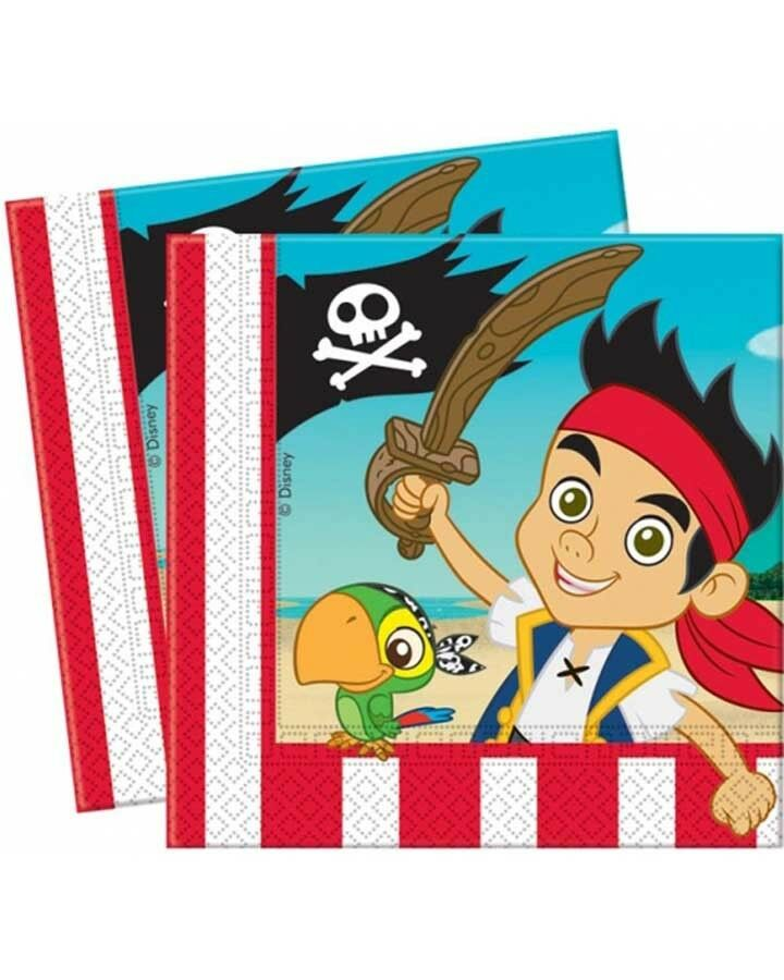 Jake & Neverland Pirates Lunch Napkins - Party Savers