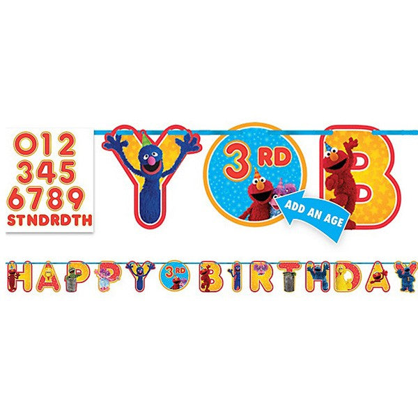 Sesame Street Add An Age Letter Banner 3.2m x 25cm