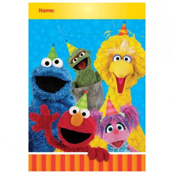 Sesame Street Plastic Loot Bags 8pk - Party Savers