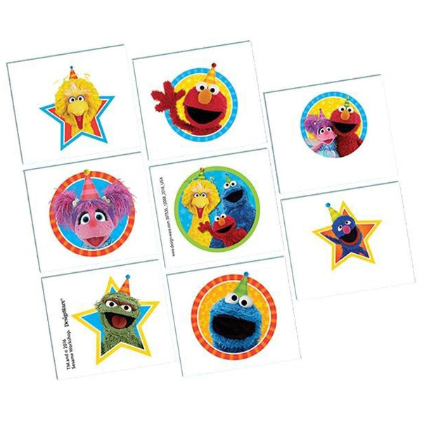 Sesame Street Tattoos 1 Sheet - Party Savers