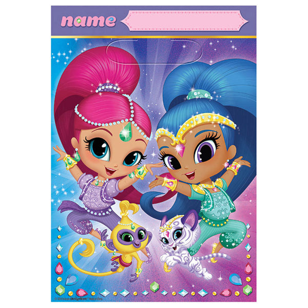 Shimmer and Shine Plastic Loot bags 8pk