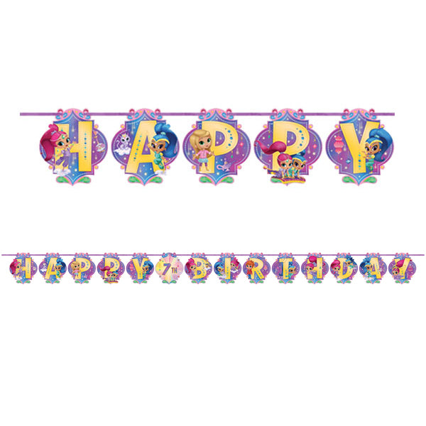 Shimmer and Shine Letter Ribbon Banner 3.2m x 25cm - Party Savers