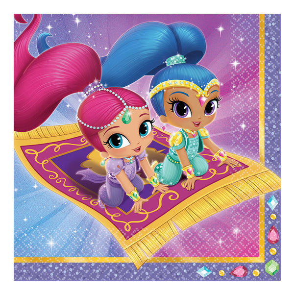 Shimmer and Shine Lunch Napkins 16pk - Party Savers