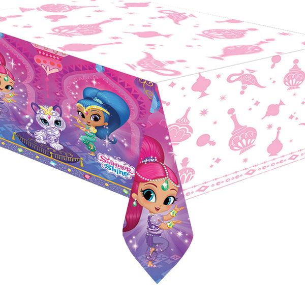 Shimmer and Shine Plastic Tablecover 137cm x 243cm