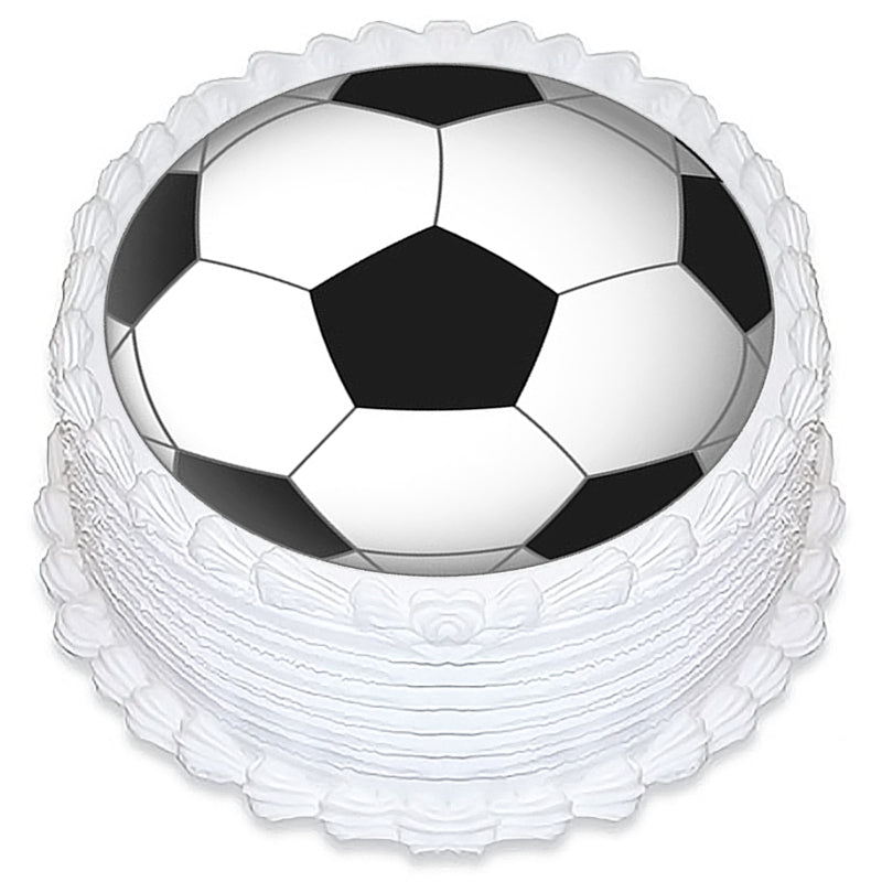 Soccer Round Edible Icing Image 19cm - Party Savers