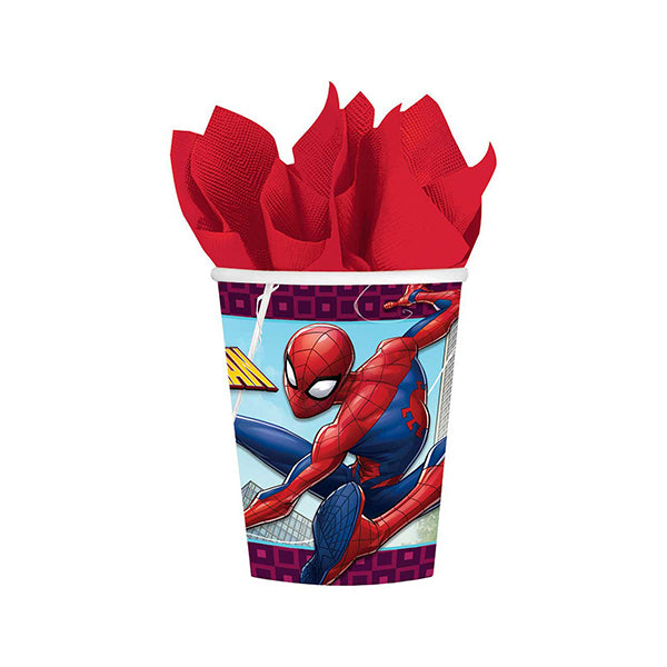 Spider-Man Webbed Wonder Cups 266ml 8pk