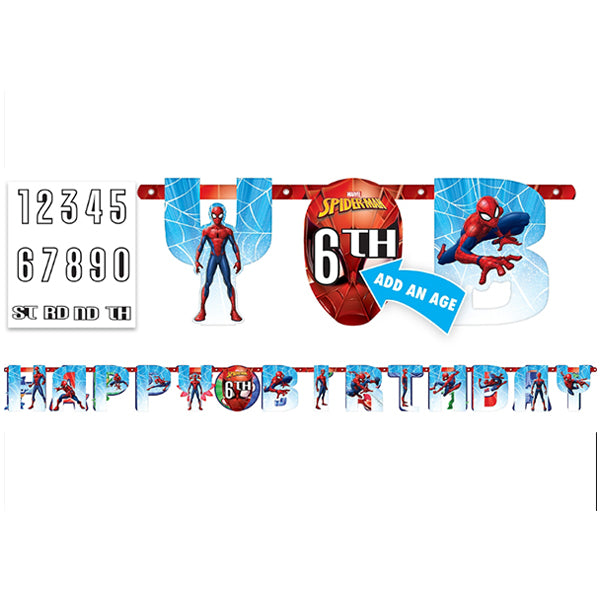 Spider-Man Webbed Wonder Jumbo Add-An-Age Banner - Party Savers