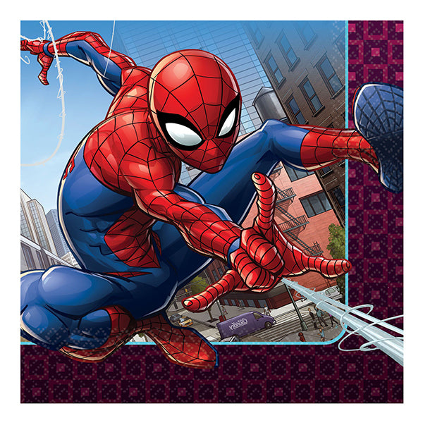 Spider-Man Webbed Wonder Lunch Napkins 33cm 16pk - Party Savers
