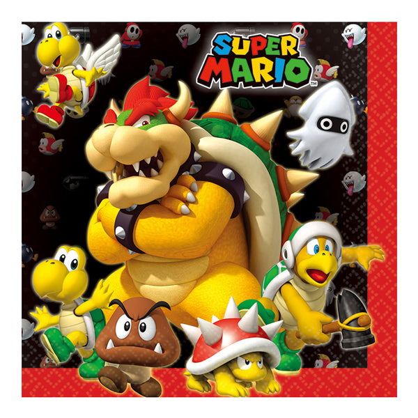 Super Mario Brothers Lunch Napkins 8pk