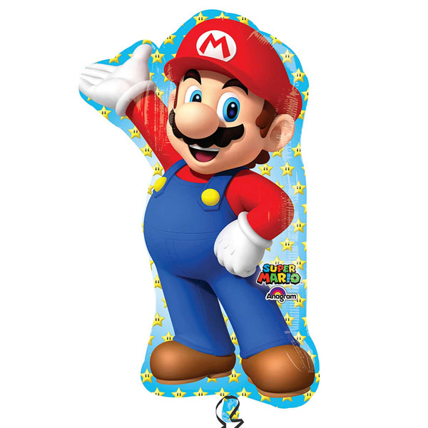 Super Mario Brothers SuperShape Balloon 55cm x 83cm - Party Savers