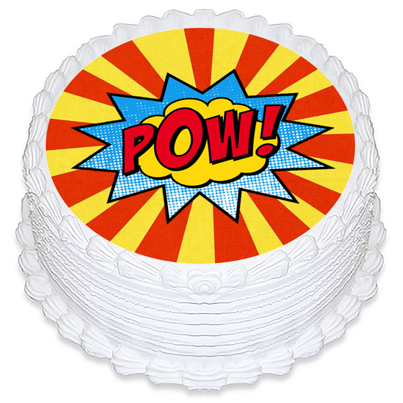 DC Super Hero Girls Round Edible Icing Image 19cm - Party Savers
