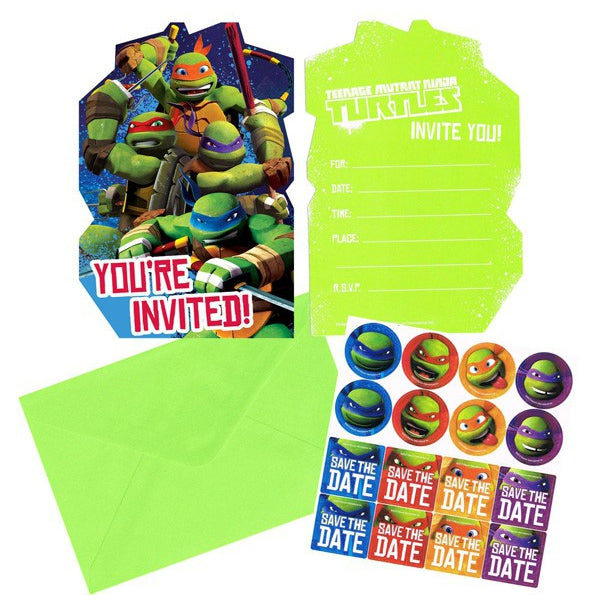 Teenage Mutant Ninja Turtles Postcard Invitation 8pk