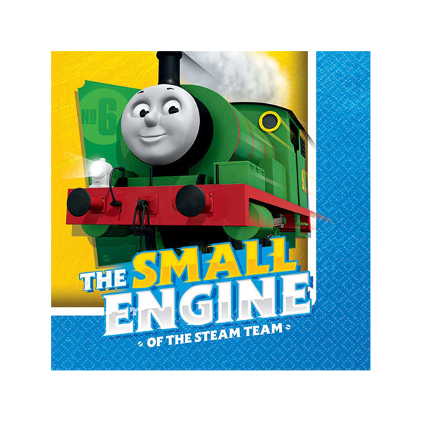 Thomas All Aboard Beverage Napkins 25cm 16pk - Party Savers