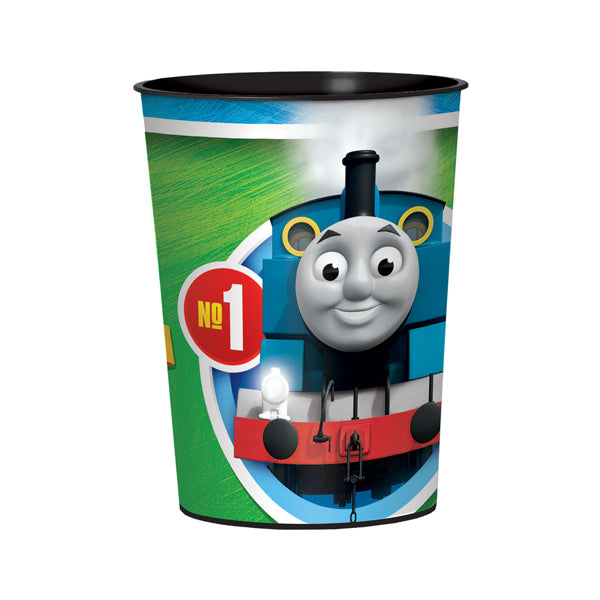 Thomas All Aboard Plastic Favor Cups 473ml Each - Party Savers