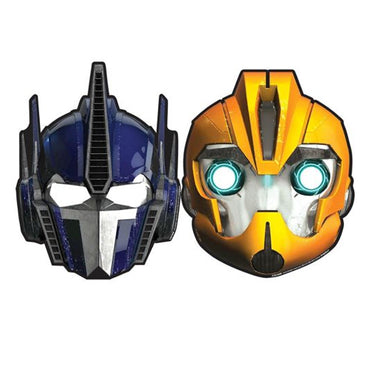 Transformers Core Paper Masks 8pk - Party Savers