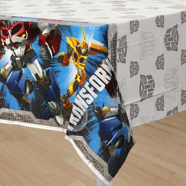 Transformers Core Plastic Tablecover 137cm x 243cm - Party Savers