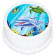 Under the Sea Round Edible Icing Image 19cm