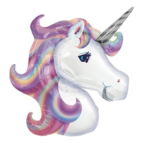 Unicorn Head Supershape Foil Balloon