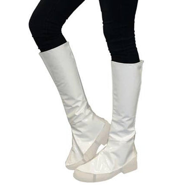 White Boot Covers Knee High