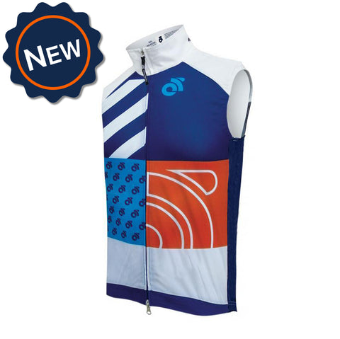 Performance Wind Vest by Champion System. Custom cycling vest for cooler temperatures.