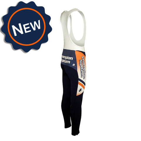 Champion System Apex Winter bib tights. Custom cycling tights for cold weather.