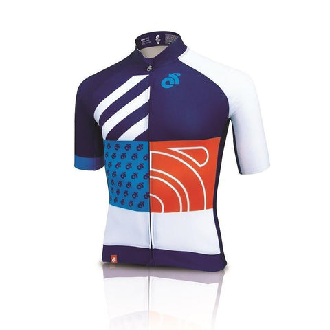 Apex Aero custom short sleeve cycling jersey - front