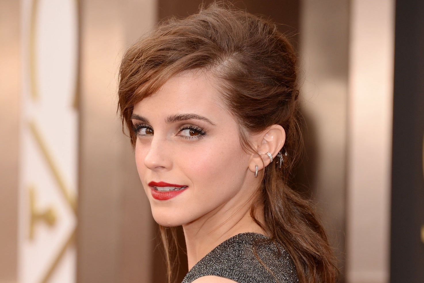 Emma Watson, girl smiling, red carpet