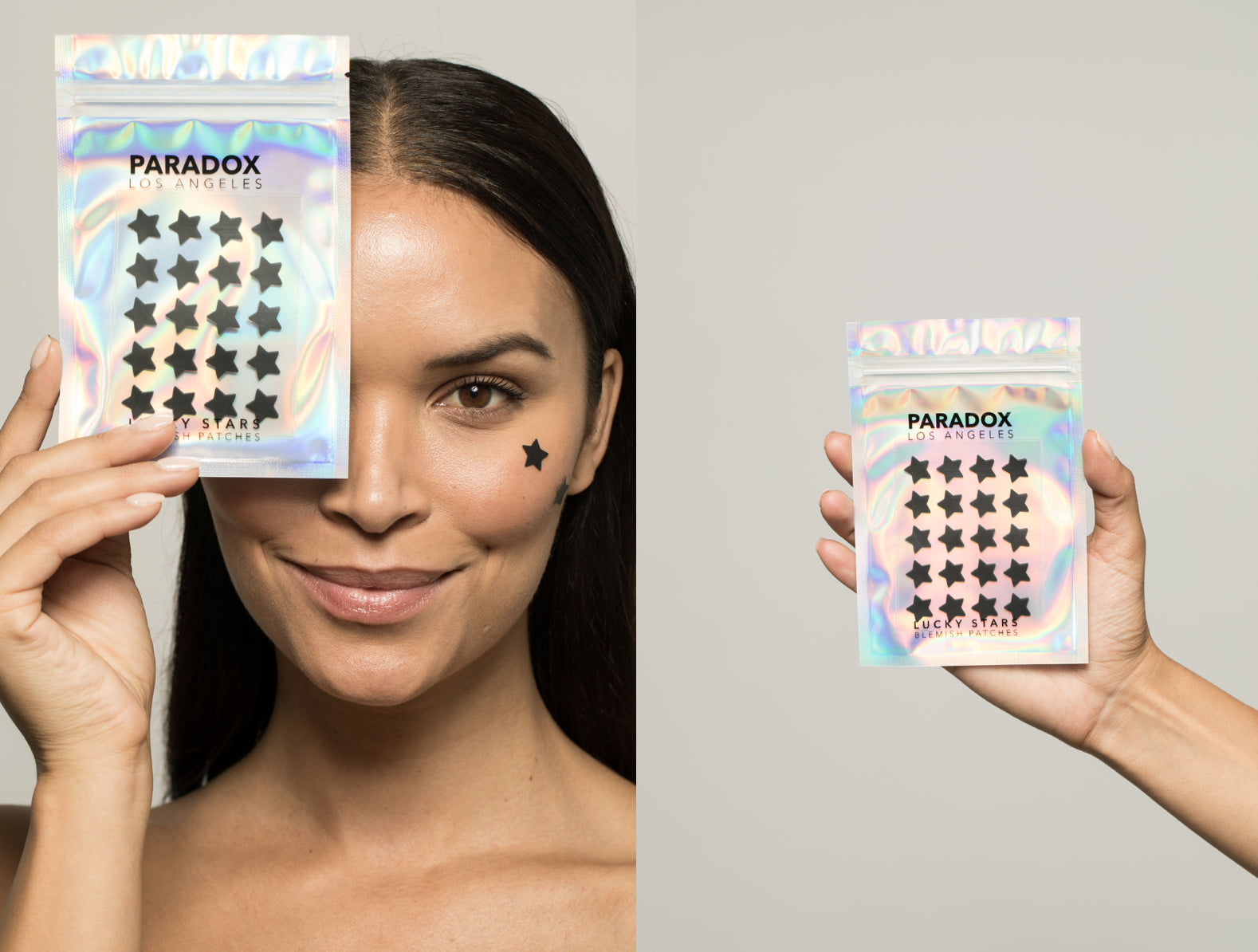 Paradox Beauty Lucky Star Face Blemish Patches - Held by Brunette Model