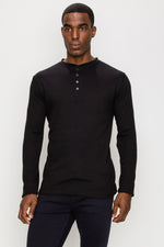 Zinovizo Men's Slim-Fit Black Long Sleeves T-Shirt