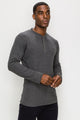 Zinovizo Men's Slim-Fit Dark Grey Long Sleeves T-Shirt