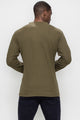 Zinovizo Men's Slim-Fit Khaki Long Sleeves T-Shirt