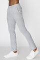 Zinovizo Men's Slim-fit Light Grey Striped Pants