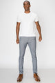 Zinovizo Men's Slim-fit Light Metal Grey Trousers
