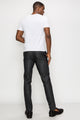 Zinovizo Men's Slim-fit Metallic Black Trousers