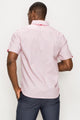 Zinovizo Men's Slim-Fit Pink Geometric Shirt