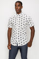 Zinovizo Men's Slim-Fit Flying Eagles Print Shirt