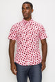 Zinovizo Men's Slim-Fit Flower Power Print Shirt