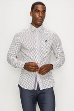 Zinovizo Men's Slim-Fit Greyhound Print Shirt