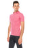 Zinovizo Men's Slim-Fit Hot Pink Polo Shirt