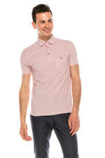 Zinovizo Men's Slim-Fit Tiny Hearts Polo Shirt