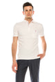 Zinovizo Men's Plain Cream Polo Shirt