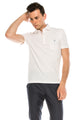 Zinovizo Men's Slim-Fit White-Pink Striped Polo Shirt