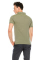 Zinovizo Men's Slim-Fit Light Khaki Polo Shirt