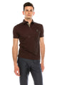 Zinovizo Men's Slim-Fit Chestnut Brown Polo Shirt