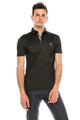 Zinovizo Men's Slim-Fit Plain Black Polo Shirt