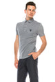 Zinovizo Men's Slim-Fit Light Grey Polo Shirt