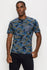 Zinovizo Men's Slim-Fit Dark Blue Military T-Shirt