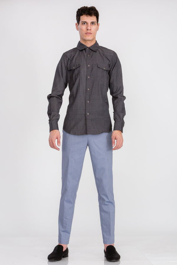 Zinovizo Men's Cotton Dot Point Shirt