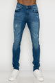 Zinovizo Men's Skinny-fit Blue Denim Pants