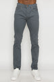 Zinovizo Men's Skinny-fit Grey Cement Pants